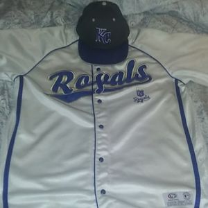 Kansas city royals true fan xl jersey  7 3/8 hat